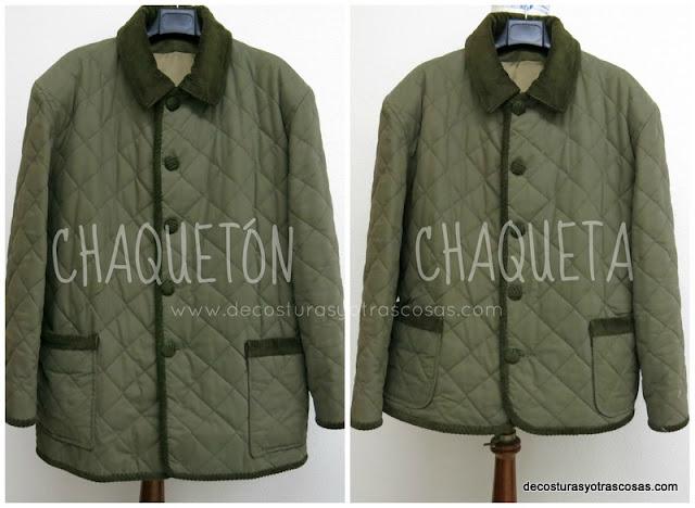 antes y después de un chaquetón