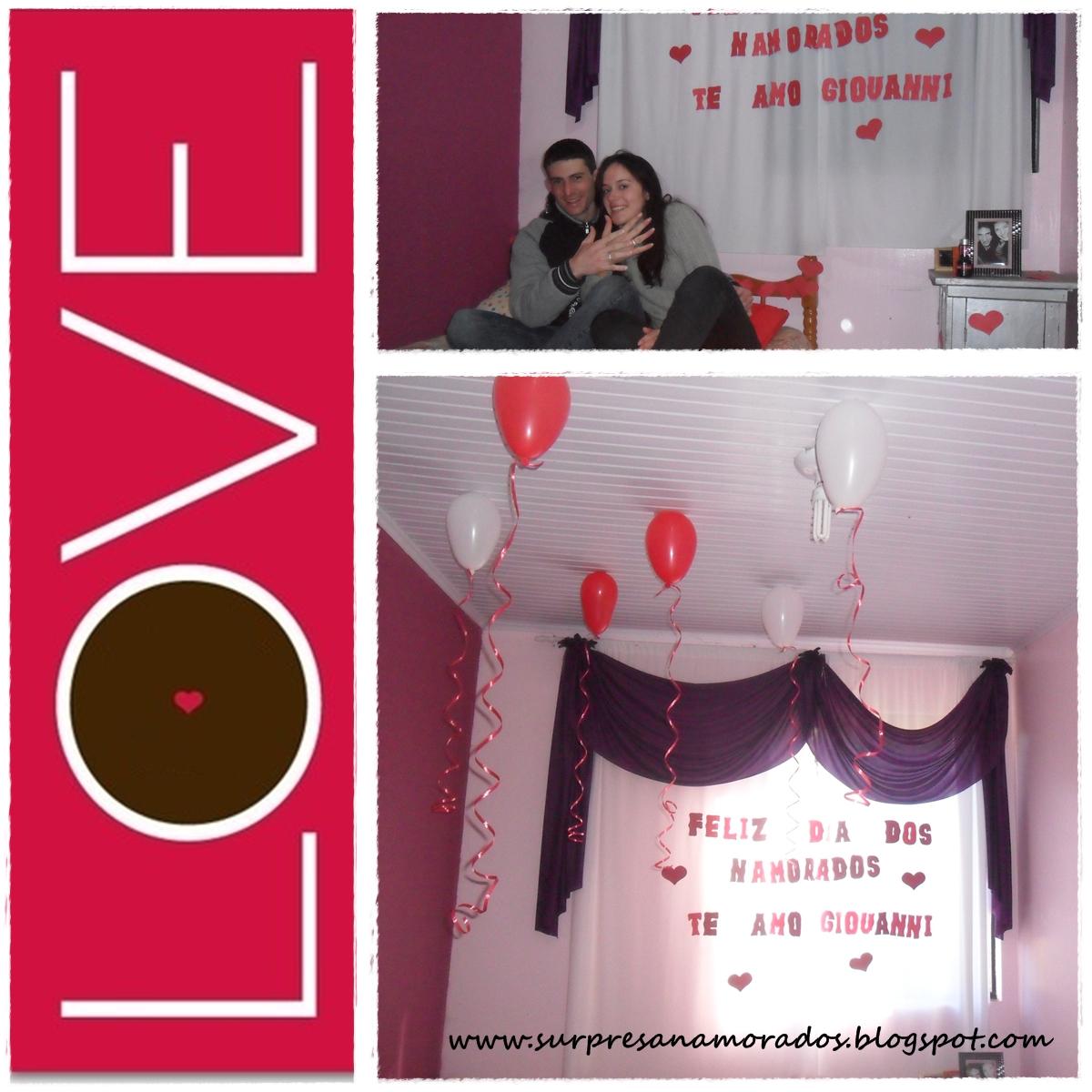 Surpresa da Viviele Surpresas para Namorados ~ Surpresa Em Quarto De Namorado