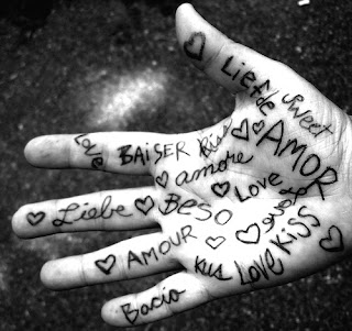 love pictures: love written on hand in a lot of languages