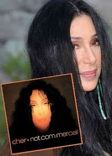 Cher, and the cover of 'Not.com.mercial'