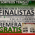 SORTEOS TENISAY: REMERA ENTRE LOS FINALISTAS