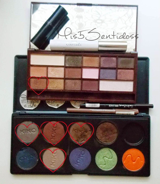 Maquillaje de otoño ojos y labios