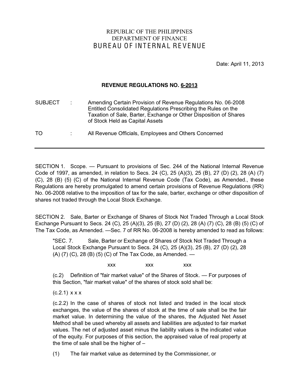 revenue regulations ph Tax bulletin february 2016 2 tax bulletin highlights bir rulings • under the inventors and inventions incentives act of the philippines, inventors are exempt from income tax on the sale of the invented products for the first 10  • revenue regulations (rr) no 1-2016 amends the rules in rr no 3-2005 on.