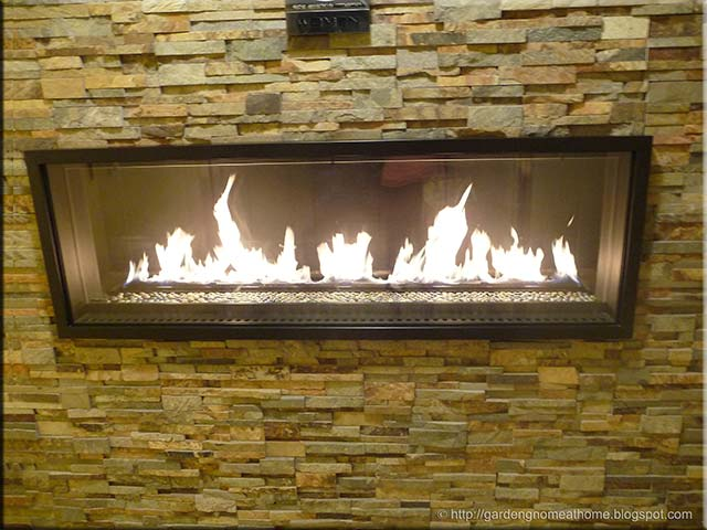 Garden Gnome At Home In The Wall Natural Gas Fireplace