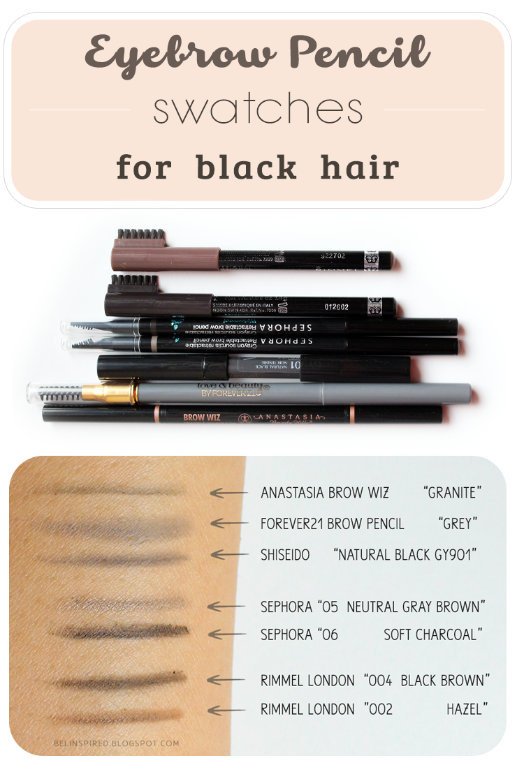 Be Linspired Eyebrow Pencils For Black Hair Photos Swatches