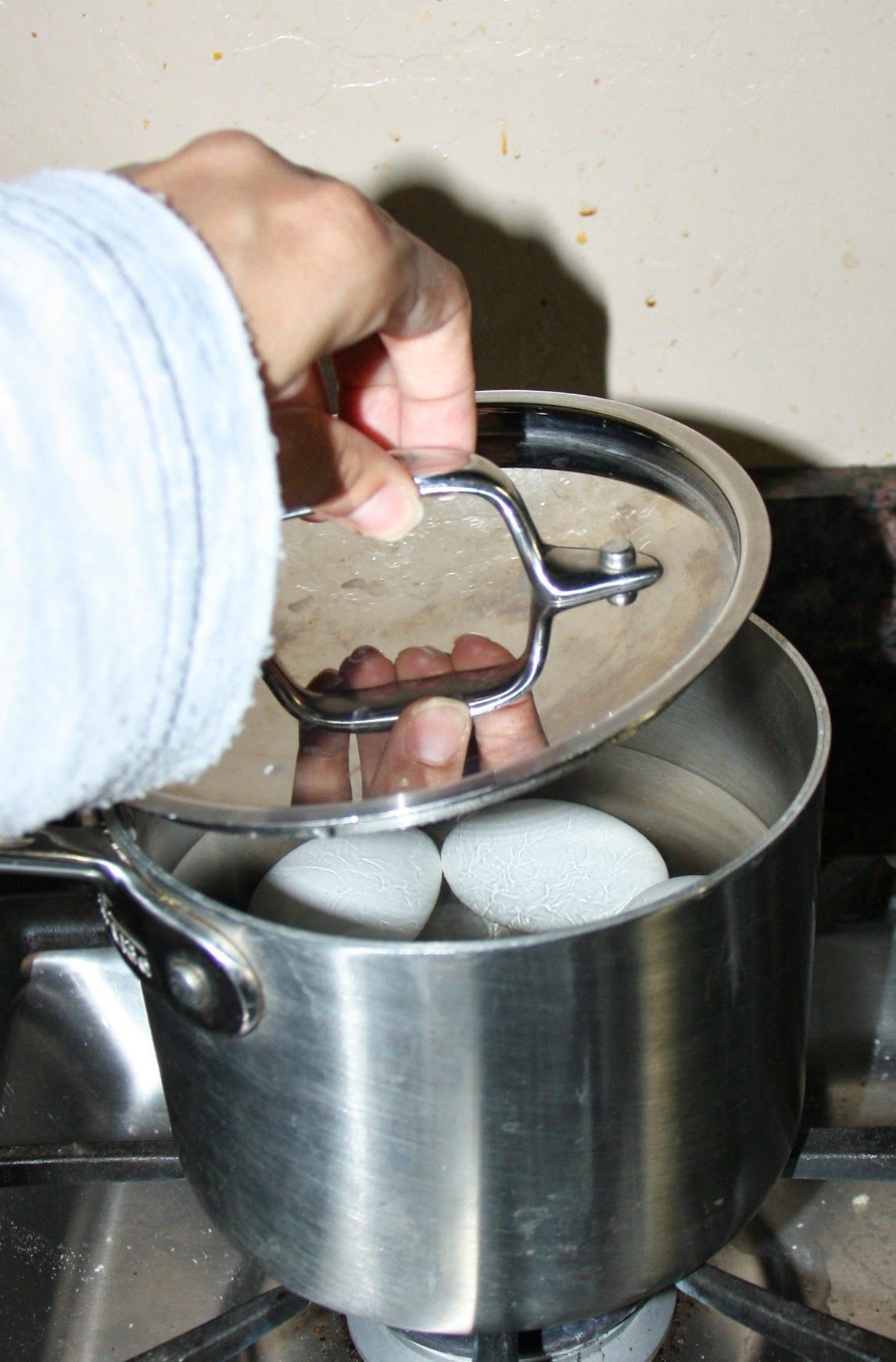 Boiled Eggs Stored At Room Temperature