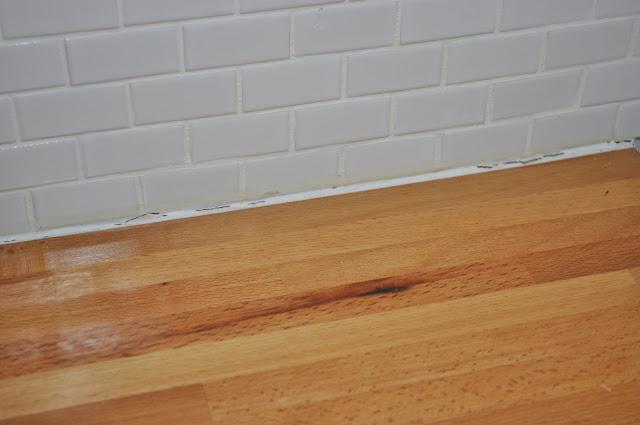 caulking counters, tile, kitchen, caulk, LOCTITE