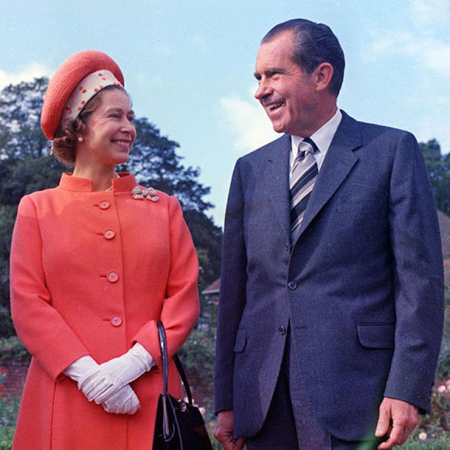 Queen Elizabeth and President Richard Nixon