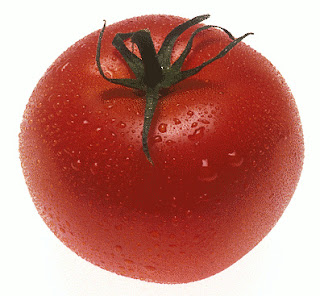 A red, ripe tomato.  Say Ahh!