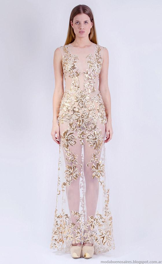 Moda primavera verano 2015 vestidos de fiesta Natalia Antolin 2015.