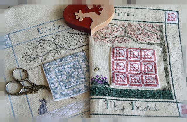 вышивка крестиком Seasonal quilts