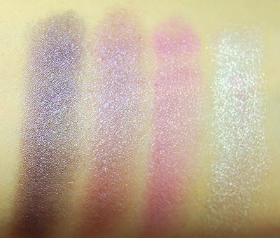 Rimmel London Glam'Eyes HD Quad Eye Shadow in 006 Purple Reign Swatches