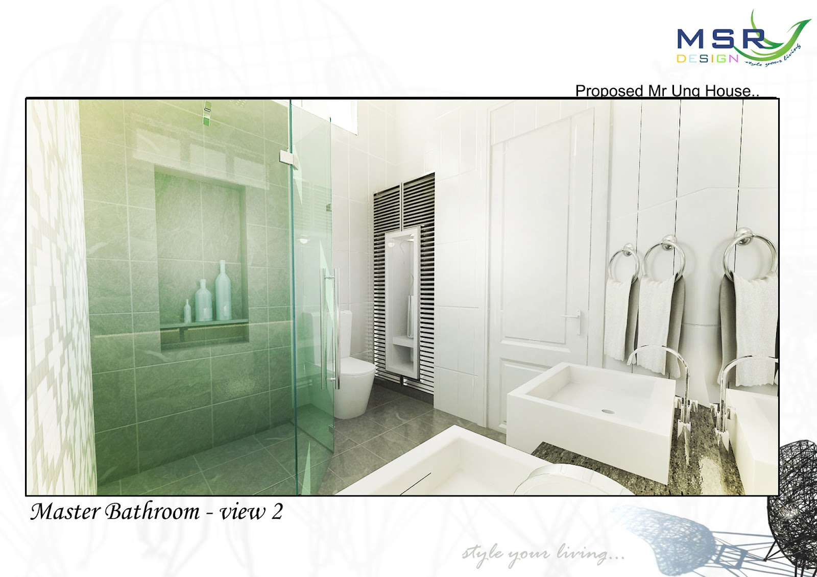 Mica Interior Design and Construction: Bathroom 3D
