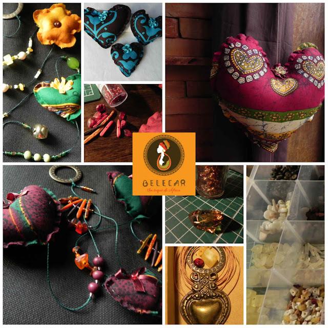 mobile decorativo em tecido africano capulana para sua casa