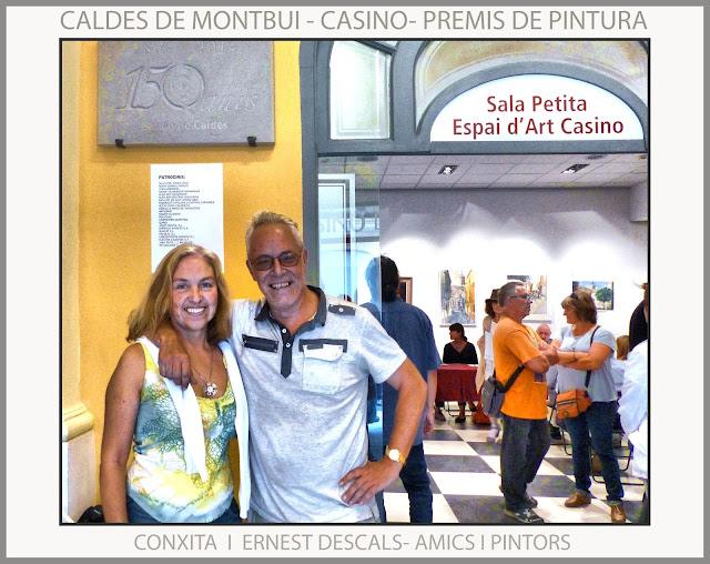 CALDES DE MONTBUI-PINTURA-CASINO-PREMIS-CONCURS-CONXITA-AMICS-PINTORS-TROBADES-PINTOR-ERNEST DESCALS