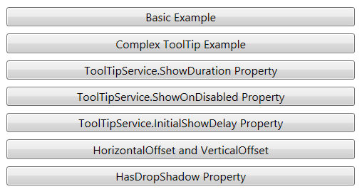 ToolTip Topics WPF