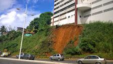 Mais uma encosta desaba no Rio Vermelho