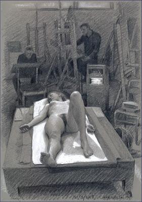 Dibujos de Mujeres Desnudas En El Taller