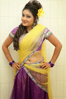 TV Anchor Priyanka in Half Saree Navel Show still-4