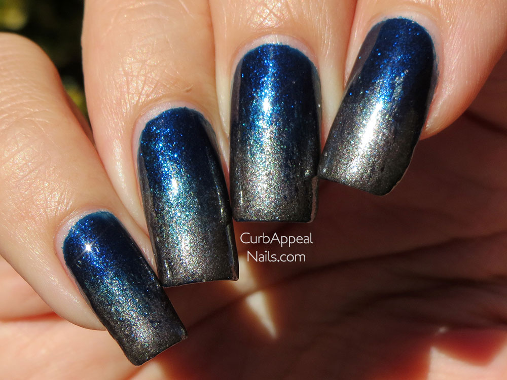 Color Club Williamsburg and Sonia Kashuk Dime A Dozen Gradient
