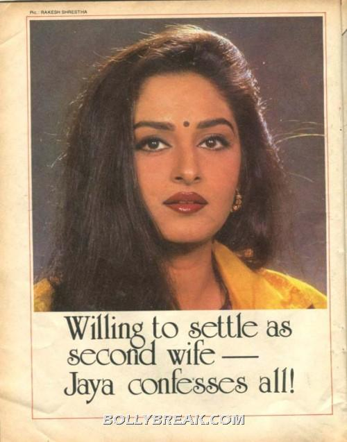 jaya prada willing to settle as second wife - jaya prada vintage magazine scan 