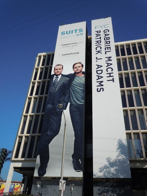 Giant Suits TV show billboard