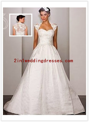 2 in 1 wedding dresses wedding dresses for larger bust for Wedding dresses for big busted women