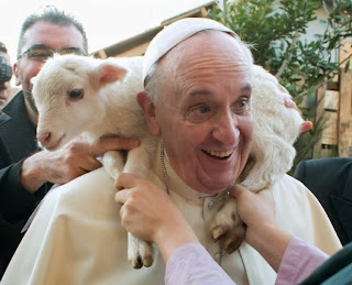 Pope and lamb