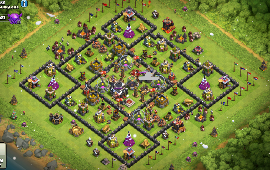 ... for Town Hall-9 with Dark Elixir Protection layouts - COC-Designs