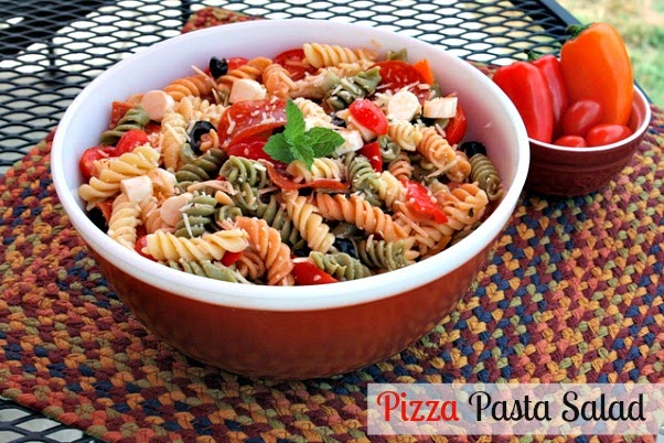 pizza pasta salad {summer salad recipe}