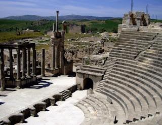 teatro romano de Dougga - Túnez