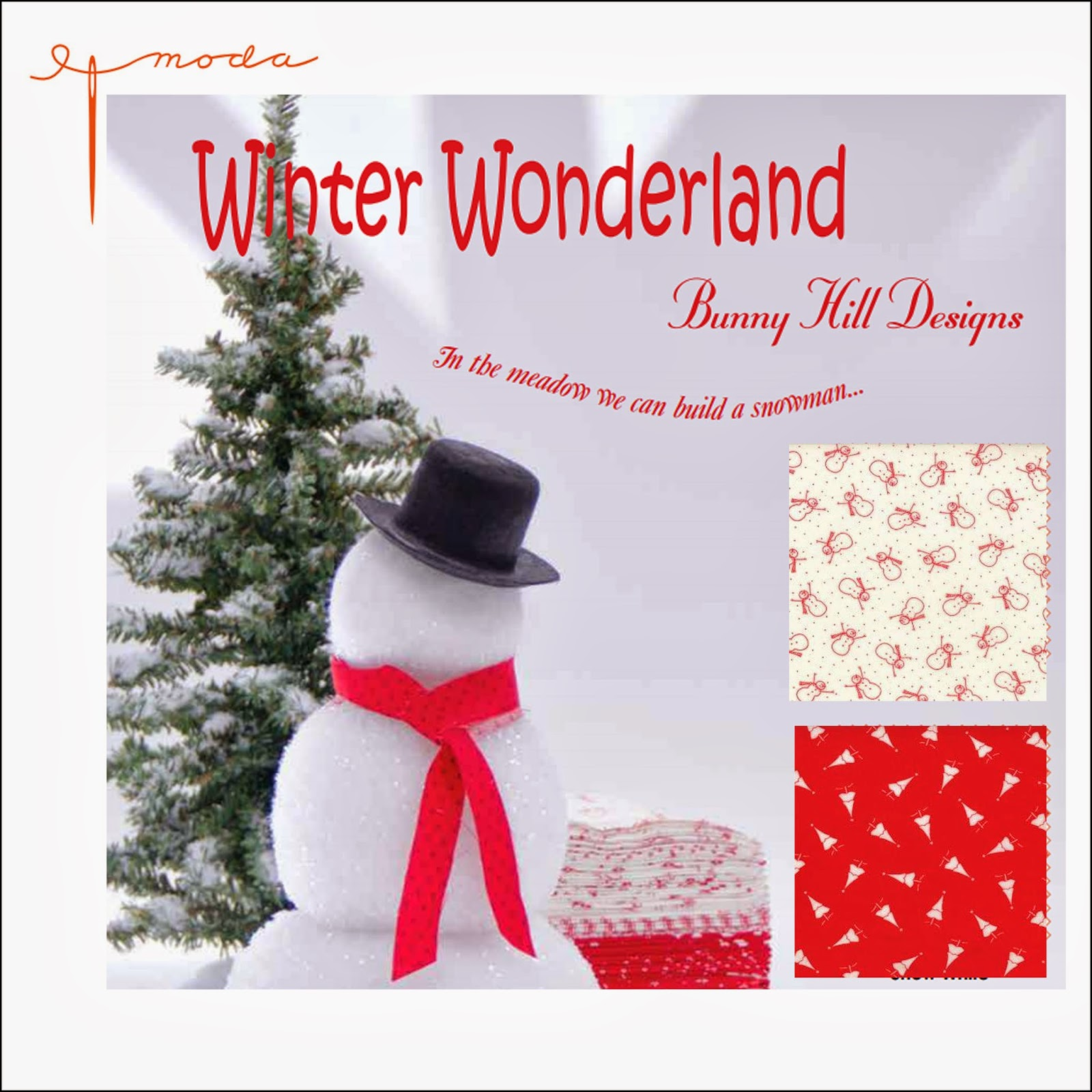 Moda WINTER WONDERLAND Quilt Fabric by Anne Sutton of Bunny Hill Designs for Moda Fabrics