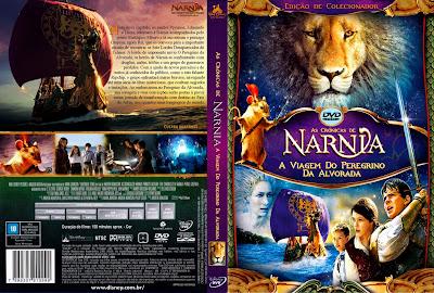 As Crônicas de Nárnia 3 A Viagem do Peregrino da Alvorada DVD Capa