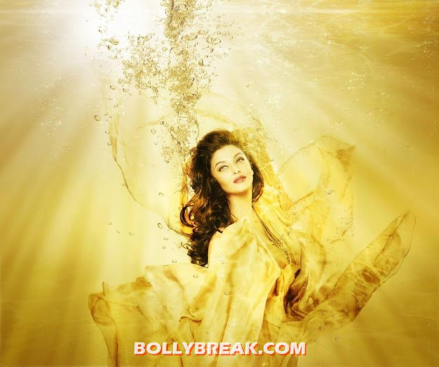 Aishwarya Rai yellow gold Kalyan Jewellers Print Ad Wallpaper -  Aishwarya Kalyan Jewellers Print Ad Wallpaper