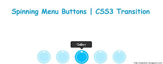 Spinning Menu Button - CSS3 Transition