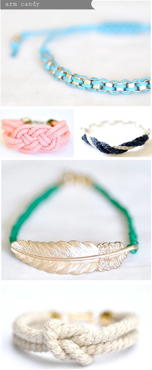 arm candy, rope bracelets, sailor knot braclets, friendship bracelets