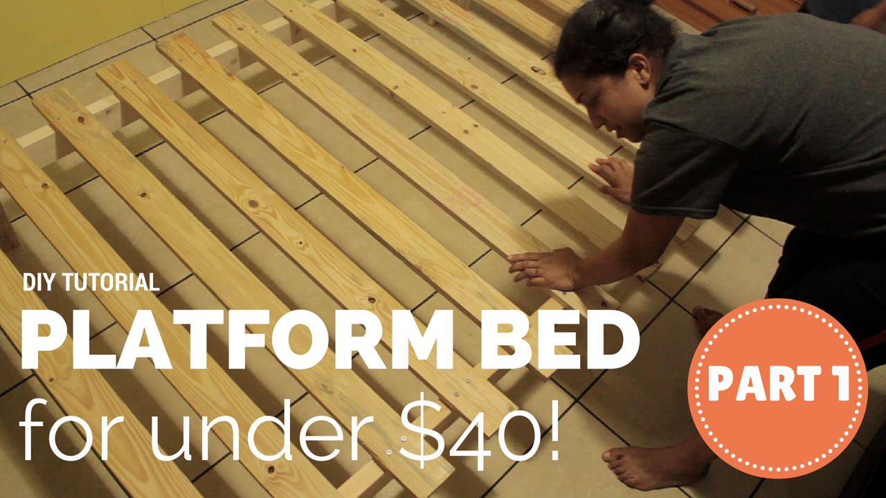 Crafty Gemini: How to Build A Platform Bed for $40 - DIY Video ...