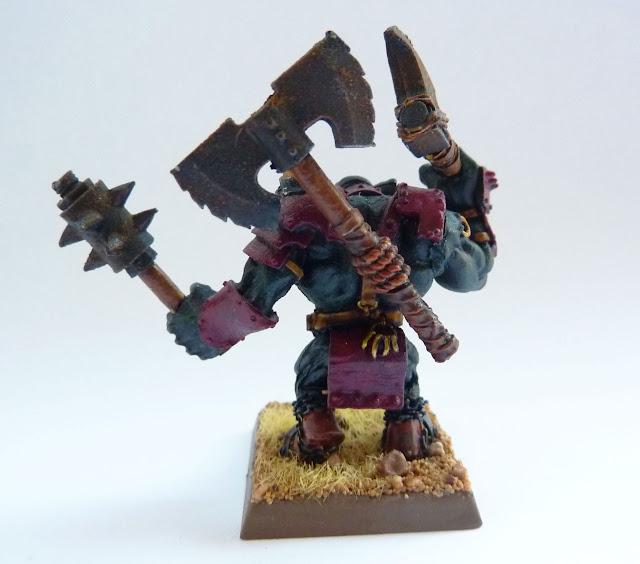 Black Orc Big Boss, Gorkamorka Nob conversion.