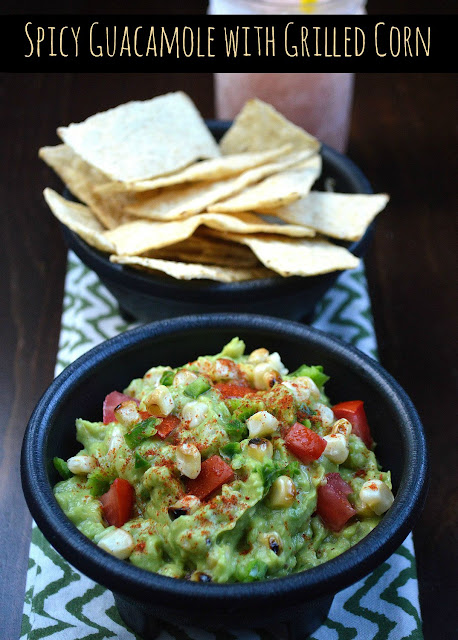 Spicy Guacamole With Grilled Corn