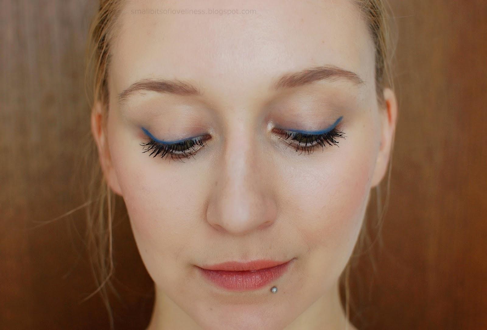 FOTD Benecos Bright BLue Eyeliner