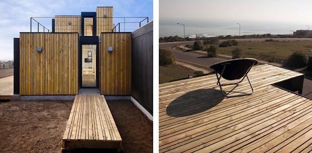 Casa de madera prefabricada en santo domingo espacios en - Paneles madera exterior ...