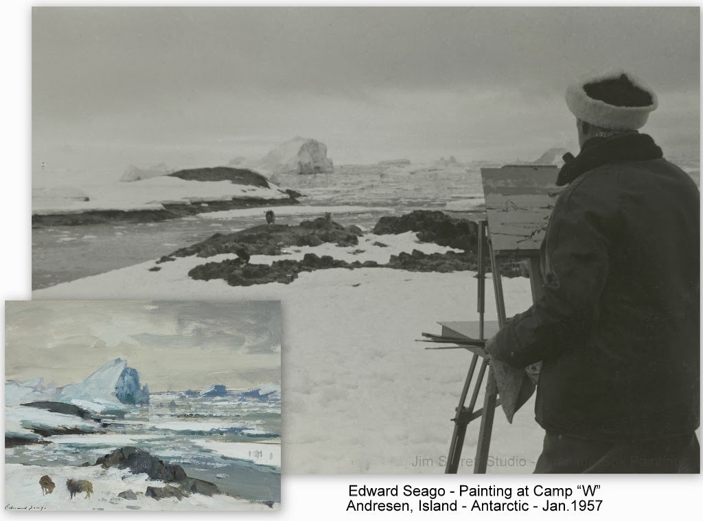 pochade box paintings  on location with edward seago