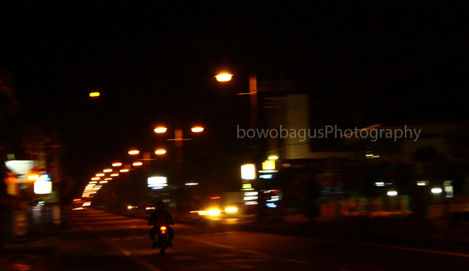 almost midnight in Klaten city