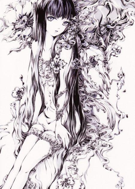 Charmal ilustrações mulheres garotas estilo anime mangá Estação