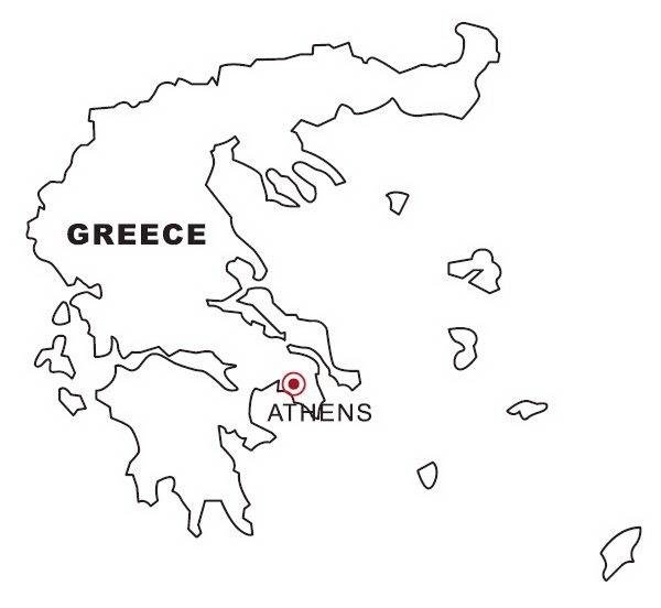 Mapa de Grecia para colorear ~ 4 Dibujo