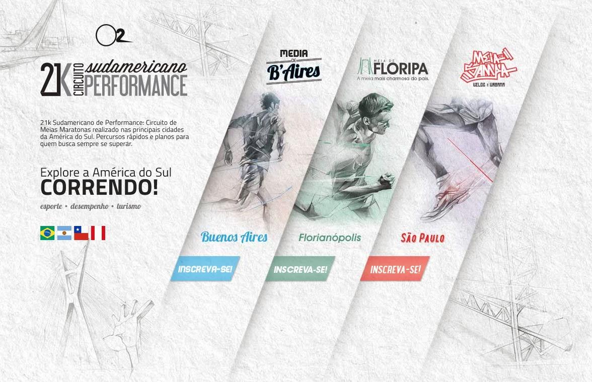 Novo circuito de corridas: 21k Sudamericano de Performance promete levar a corrida para além das fronteiras nacionais