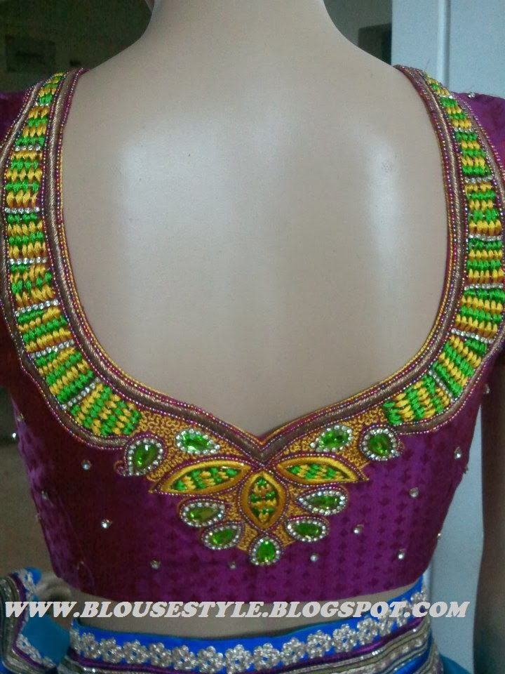 Zardhosi And Thread Kundan Stone Work Designer Blouse Piepie Closet
