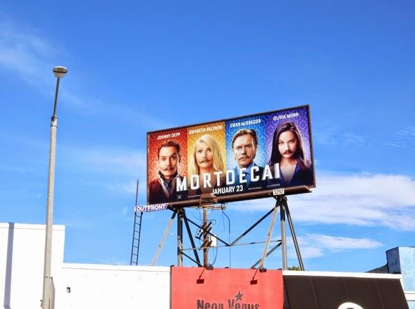 Mortdecai movie billboard