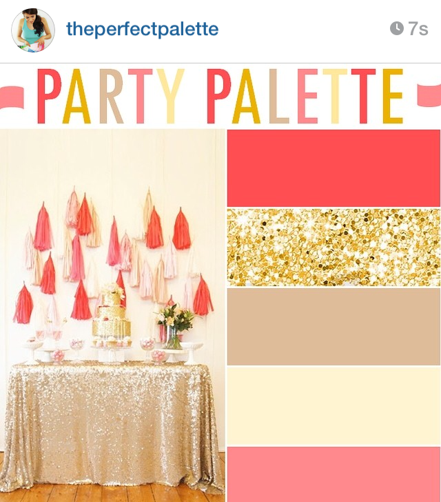 pink and gold party palate