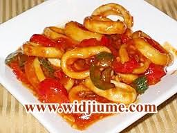 Resep Masakan Dan Cara Membuat Cumi-Cumi Sambal Merah